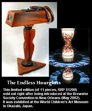 The Endless Hourglass Kaleidoscope, inside & outside views